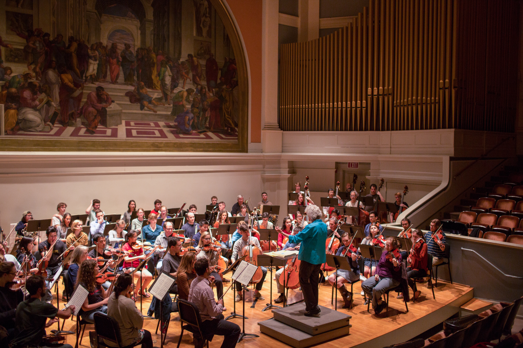 Orchestra in Cabell Hall
