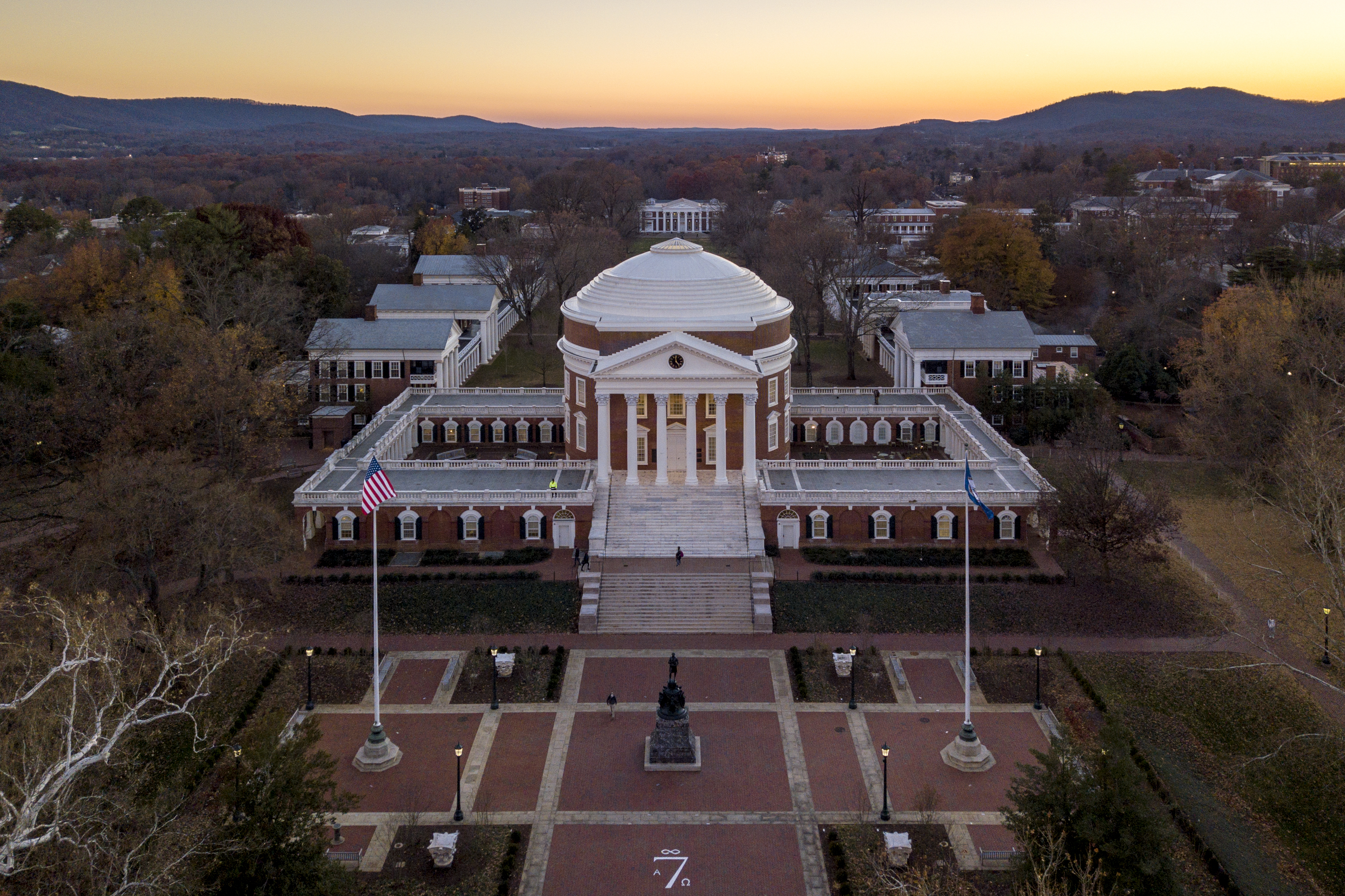 Lawn and Rotunda Aerial