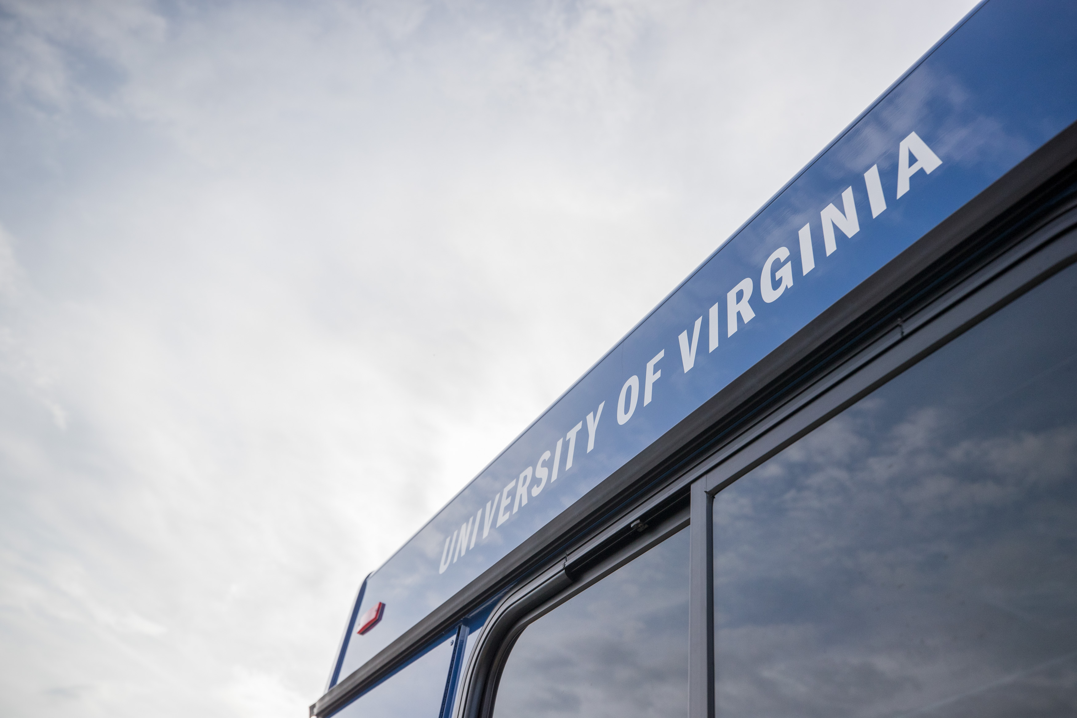 University of Virginia lettering on UTS bus
