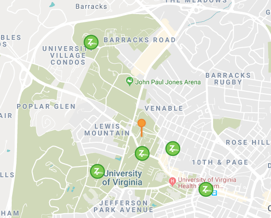 map of zipcar locations